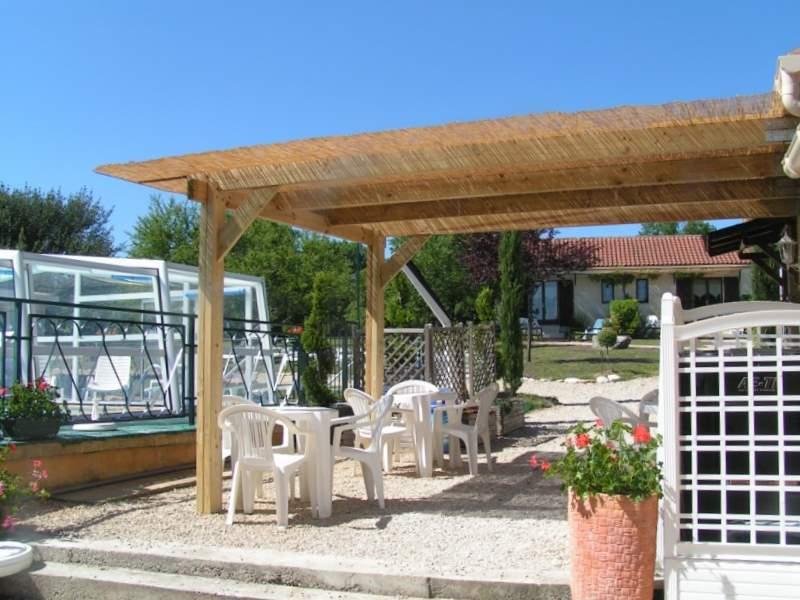 pergola bois autoclave billot table de ferme realisation artisanale. Black Bedroom Furniture Sets. Home Design Ideas