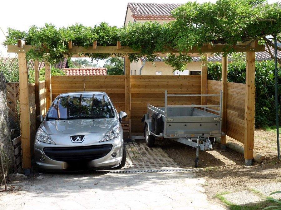carport 2 voitures x. Black Bedroom Furniture Sets. Home Design Ideas